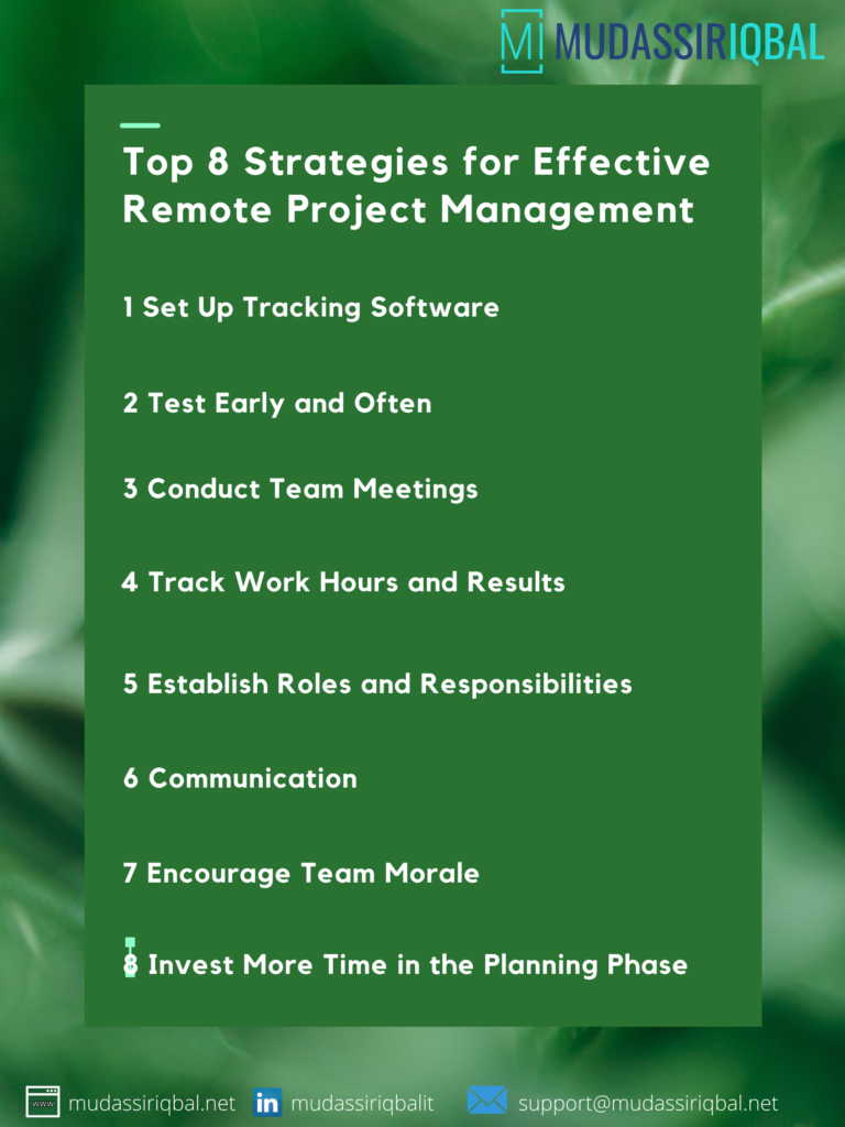 Top 8 Strategies for Effective Remote Project Management