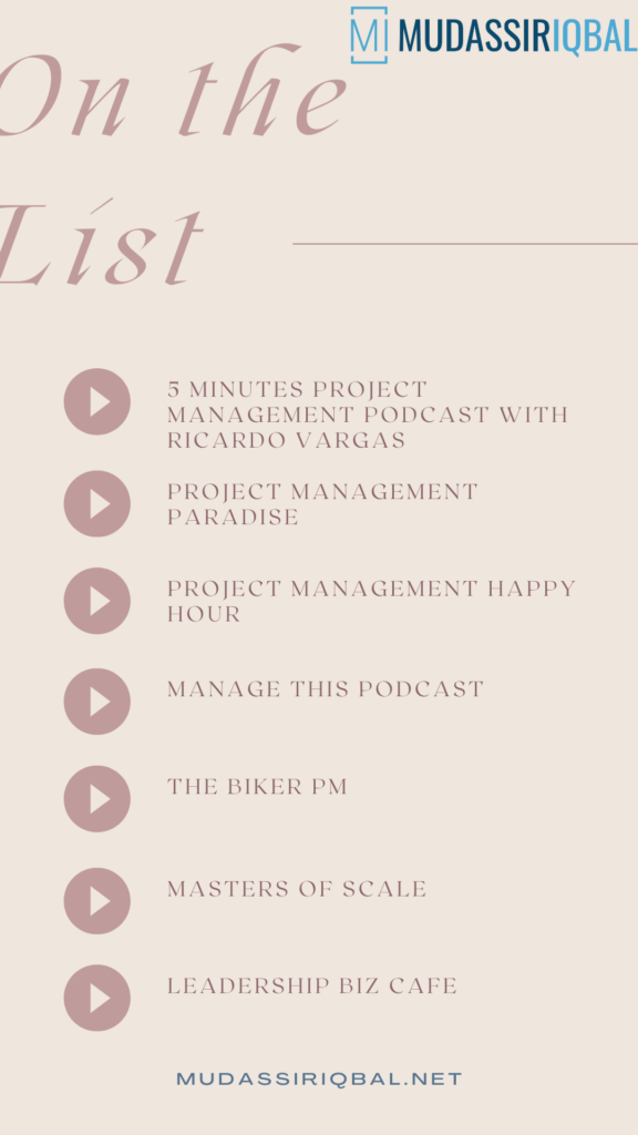 The List of Project Management Podcasts